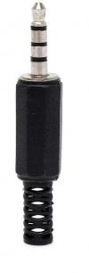 3.5mm Stereo Jack  μαζι με μικροφωνο σε μαυρο χρωμα