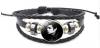 Χειροποίητο Βραχιόλι από Δερματίνη - Ατσάλι σε μαυρο με απεικονιση Michael Jackson (Unisex)