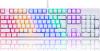 Motospeed Μηχανικό Gaming Πληκτρολόγιο CK107 (K96) Usb με Backlight και Κόκκινους OUTEMU διακόπτες  - Άσπρο