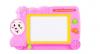 Πίνακας ζωγραφικής - εγγραφής Τρενάκι με σφραγίδες - Ροζ