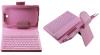 Δερμάτινη Θήκη Bluetooth με Πληκτρολόγιο για το Samsung Galaxy Tab 3 (7.0) T210 Ρόζ (OEM)