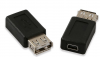 USB adapter, USB A female - 5 pin mini female (OEM)