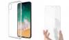 Σετ Θήκη Ultra Thin TPU Gel Με Προστατευτικό Οθόνης Tempered Glass 3D 9h WTP002 Μαύρο για Apple iPhone X Διαφανή