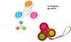 Pop It Παιχνίδι  ΑντιΣτρες - Bubble πολυχρωμο  Spinner  (oem)(bulk)