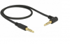 DELOCK καλώδιο Jack stereo σε Jack stereo 4pin 3.5mm, 90°, μαύρο, 0.5m