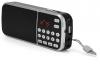 Y-501 Mini ΦΟΡΗΤΟ LCD ΨΗΦΙΑΚΟ ΡΑΔΙΟ FM - ΗΧΕΙΟ USB Disk TF AUX Mp3 Music Player μαυρο χρωμα