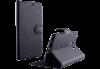 Samsung Galaxy J3 2016 J320F  Δερμάτινη Stand θήκη Πορτοφόλι Με Πίσω Κάλυμμα Σιλικόνης Μαύρο VolteTel