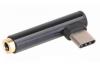 POWERTECH Αντάπτορας Type-C (ΜALE) σε 3.5mm jack (FEM), μαύρο