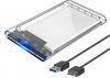 Εξωτερικη Θήκη USB 3.0 σε SATA 3.0 Σκληρου Δίσκου για 2.5 inches HDD και  SSD SATA  Διαφανές (OEM)