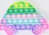Pop It Παιχνίδι  ΑντιΣτρες - Bubble ουρανιο-τοξο παστελ χρωματα Αμαξακι (oem)(bulk)
