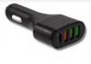 Qoltec 51753 Universal car charger 12-24V   51W   5A   1xUSB-C + USB QC 3.0   2xUSB Smart