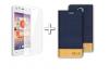 Αυθεντικη MLS  IQTALK Color Mini 4G - Θήκη BOOK ΜΠΛΕ και Προστατευτικο Τζαμι