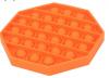 Pop It Παιχνίδι  ΑντιΣτρες - Bubble μονοχρωμο πορτοκαλί οκτάγωνο  (oem)(bulk)