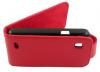 ZTE Kis V788d Leather Flip Case Red ZTEKV788LFCR OEM