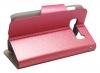 Δερμάτινη Stand Θήκη/Πορτοφόλι για Alcatel One Touch Pop C5 (OT-5036D) Λαμπερό Ρόζ (OEM)