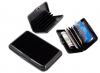 Πορτοφόλι προστασίας ανάγνωσης πιστωτικών καρτών, μαύρο