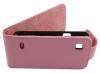 ZTE Kis V788d Leather Flip Case Pink ZTEKV788LFCP OEM