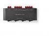 Συσκευή NEDIS ASWI2604BK για σύνδεση 4 σετ ηχείων 4-16 Ω, σε 1 ενισχυτή.