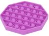 Pop It Παιχνίδι  ΑντιΣτρες - Bubble μονοχρωμο μωβ  οκτάγωνο  (oem)(bulk)