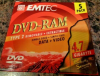 DVD-RAM 4.7 GB type 2 removable EMTEC Single Sided DATA + VIDEO 5 pack NEW