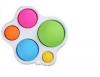 Pop It Παιχνίδι  ΑντιΣτρες - Bubble πολυχρωμο  Φουσκες μικρες- μεγαλες (oem)(bulk)