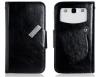 ZTE Blade Q Mini - Δερμάτινη Θήκη Πορτοφόλι Με Βεντούζες Μαύρο (OEM)