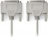 Καλώδιο Παράλληλης Σύνδεσης D-SUB 25-Pin Αρσ. - D-SUB 25-Pin Αρσ 2m, Λευκό.(OEM)