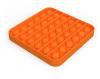 Pop It Παιχνίδι  ΑντιΣτρες - Bubble μονοχρωμο πορτοκαλί τετραγωνο  (oem)(bulk)