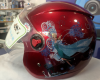 Full face της AOSHI κράνος μηχανής σε κοκκινο χρωμα με χαραχτηρες FROZEN για αστική χρήση 9-12 χρονων