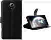 Lenovo A536 - Δερμάτινη Θήκη πορτοφόλι με πίσω καλυμμα σιλικονης Μαύρο (OEM)