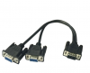 DB9 Male to 2 Female Serial Rs232 Splitter Cable Rs232 Male to 2 Female 2 F17686