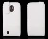 ZTE Blade III V889 - Δερμάτινη Θήκη Flip Λευκή (ΟΕΜ)