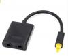 23CM Mini USB Audio Cable Digital Toslink - Optical Fiber Audio 1 to 2 Female Splitter Adapter