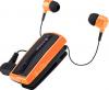 Στερεοφωνικό Ακουστικό Bluetooth iXchange Retractable με Δόνηση -  με αποσπώμενο το 2ο ακουστικό UA-28SE-V σε πορτοκαλι χρωμα