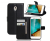 Δερμάτινη Θήκη Πορτοφόλι Με Πίσω Πλαστικό Κάλυμμα Vodafone Smart Prime 7 VFD600 μαυρο