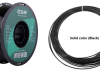 PETG 3D νήμα 1,75 mm - χρωμα μαύρο (Esun) 10 meters