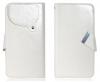 ZTE Blade Q Mini - Δερμάτινη Θήκη Πορτοφόλι Με Βεντούζες Λευκή (OEM)