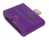 iPhone 5 Plug to micro USB iPhone 4 Adaptor (2 in 1) in purple