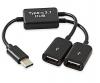 TYPE C OTG Καλώδιο για Tablet, Smartphone σε 2 USB Θυλ