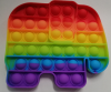 Pop It Παιχνίδι  ΑντιΣτρες - Bubble ουρανιο-τοξο Ελεφαντας  (oem)(bulk)