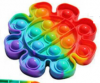 Pop It Παιχνίδι  ΑντιΣτρες - Bubble Ουρανιο-τοξο Λουλουδι (oem)(bulk)