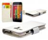 Motorola Moto G / Moto G X1032 - Δερμάτινη Θήκη Πορτοφόλι Λευκή (OEM)