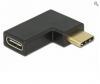 DELOCK Superspeed USB Type-C male to Type-C female 90 μοιρες γωνια δεξια/αριστερα