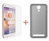 Αυθεντικη MLS  ALU 5 3G - Θήκη Πίσω Κάλυμμα Σιλικόνης Διαφανες και Προστατευτικο Τζαμι