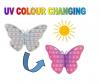 Pop It Παιχνίδι  ΑντιΣτρες - Bubble UV (χρωματιζεται με ακτινες UV) Πεταλουδα  (oem)(bulk)