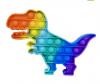 Pop It Παιχνίδι  ΑντιΣτρες - Bubble ουρανιο τοξο χρωματισμος Δεινοσαυρος (oem)(bulk)