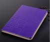 Δερμάτινη Θήκη Πορτοφόλι για ipad Air 2013 / ipad 5 Μώβ LWCIPA2013PU OEM
