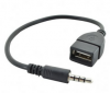 3.5mm AUX Audio Male Jack Plug to USB 2.0 Female Cable