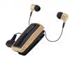 Στερεοφωνικό Ακουστικό Bluetooth iXchange Retractable με Δόνηση - με αποσπώμενο το 2ο ακουστικό UA-28SE-V σε Χρυσό
