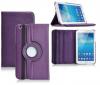 Δερμάτινη Θήκη Περιστρεφόμενη για το Samsung Galaxy Tab 3 8.0 Μώβ (OEM)